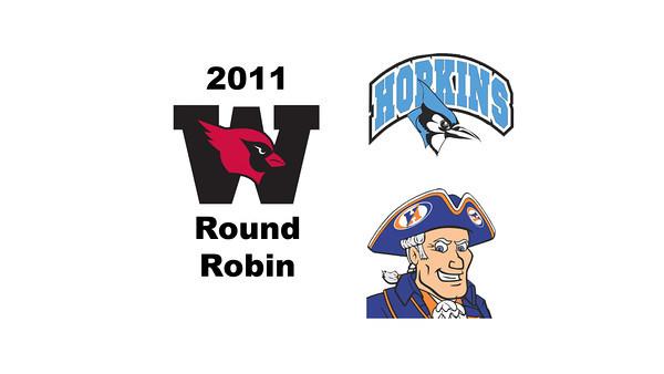 2011 Wesleyan Round Robin: #2s Daniel Pelaez (Hobart) and Nathan Li (Johns Hopkins)