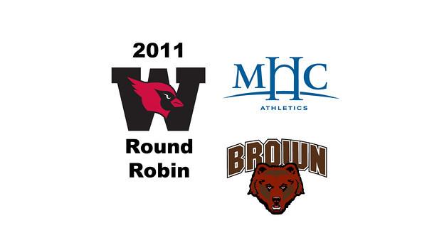 2011 Wesleyan Round Robin: #2s Shara Robertson (Mount Holyoke) and Sarah Domenick (Brown). <br /> <br /> Games 1 and 2