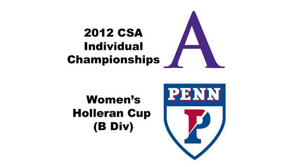 Holleran Cup (Round of 32): Stephanie Vogel (Penn) and Chandler Lusardi (Amherst)