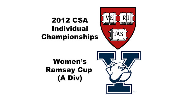 Ramsay Cup (Semis): Millie Tomlinson (Yale) and Laura Gemmell (Harvard) - Part 1