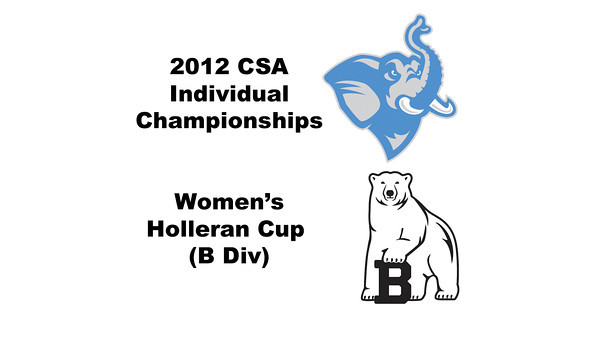 Holleran Cup (Round of 32): Torey Lee (Bowdoin) and Paige Dahlman (Tufts)