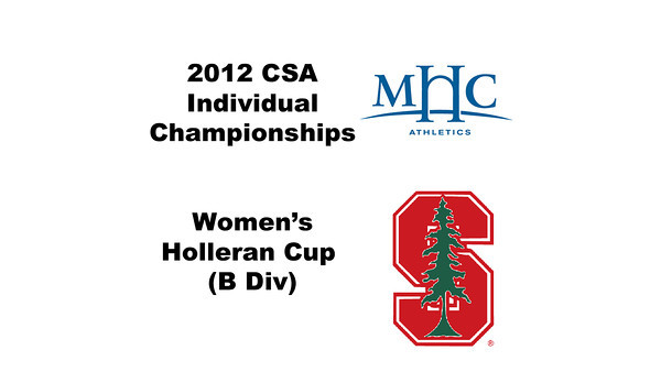 Holleran Cup (Round of 32): Shara Robertson (Mount Holyoke) and Aditi Maliwal (Stanford)