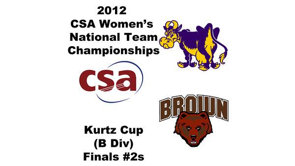 a41 2012 Women's College Squash Association National Team Championships - Kurtz Cup (B Division): Alli Rubin (Williams) and Sarah Domenick (Brown)