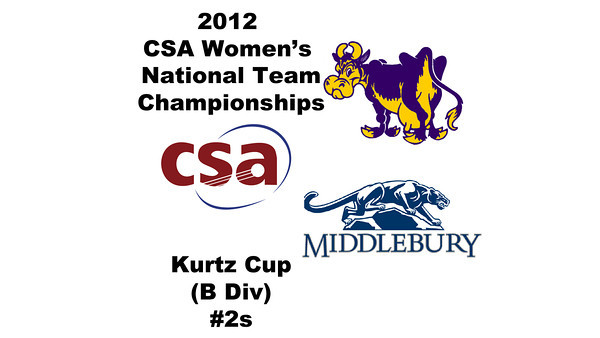 a34 2012 Women's College Squash Association National Team Championships - Kurtz Cup (B Division): Abigail Jenkins(Middlebury) and Alli Rubin (Williams)