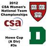 3 2012 Women's College Squash Association National Team Championships - Howe Cup (A Division): Nirasha Guruge (Harvard) and Sarah Loucks (Dartmouth)