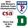 a30 2012 Women's College Squash Association National Team Championships - Howe Cup (A Division): Chloe Blacker (Penn) and Julia Watson (Dartmouth)