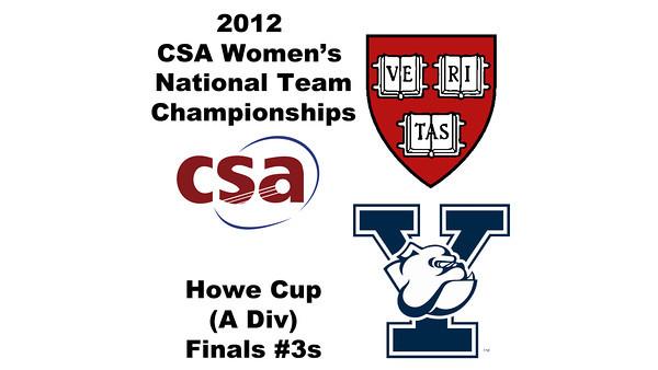 a45 2012 Women's College Squash Association National Team Championships - Howe Cup (A Division): Nirasha Guruge (Harvard) and Rhetta Nadas (Yale)