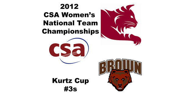 a35 2012 Women's College Squash Association National Team Championships - Kurtz Cup (B Division): Myriam Kelly (Bates) and Sarah Crosky (Brown)