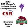 a17 2012 Women's College Squash Association National Team Championships - Emerging Teams Division: Yuxin Liu (NYU) and Jennifer Fowler (Minnesota)