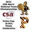 2012 Men's College Squash Association National Team Championships - Potter Cup (A Division): Championship Celebrations.