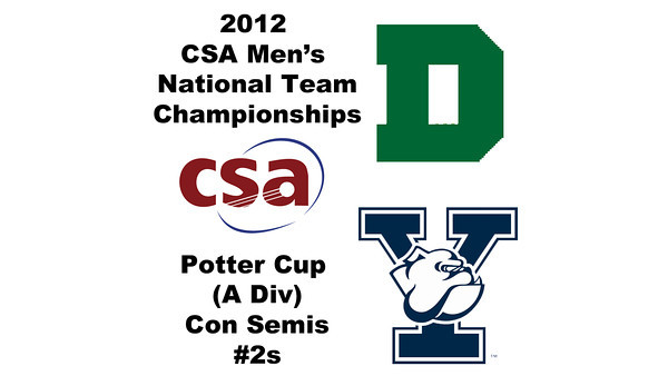 2012 Men's College Squash Association National Team Championships - Potter Cup (A Division): Nicholas Sisodia (Dartmouth) and Richard Dodd (Yale)