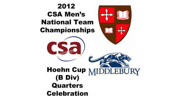 2012 Men's College Squash Association National Team Championships - Hoehn Cup (B Division): St. Lawrence celebration