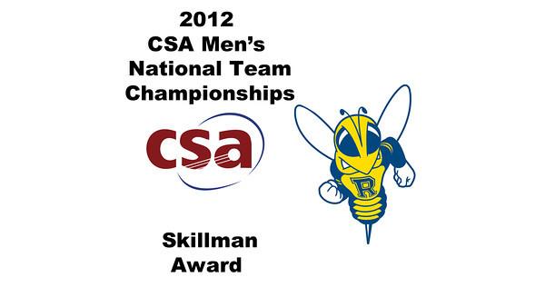 2012 Men's College Squash Association National Team Championships: Skillman Award - Benjamin Fischer (Rochester)