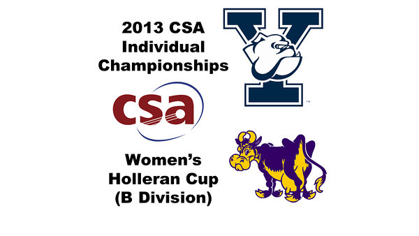 2013 College Squash Individual Championships - Holleran Cup - Round of 32: Annie Ballaine (Yale) and Nicole Feshbach (Williams)
