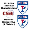 2013 College Squash Individual Championships - Ramsay Cup - Con Quarters: Rachael Goh (Penn) and Nabilla Ariffin (Penn)