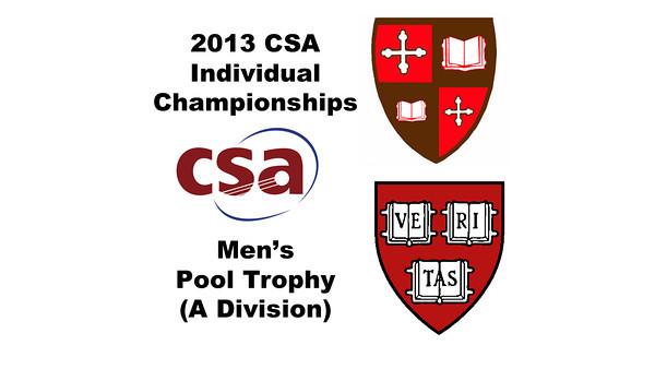 2013 College Squash Individual Championships - Pool Trophy - Semis: Amr Khaled Khalifa (St. Lawrence) and Ali Farag (Harvard)