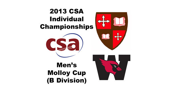 2013 College Squash Individual Championships - Molloy Cup - Round of 16: John Steele (Wesleyan) and Sebastian Riedelsheimer (St. Lawrence)