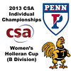 2013 College Squash Individual Championships - Holleran Cup - Roudn of 32: Camille Lanier (Penn) and Chanel Erasmus (Trinity)