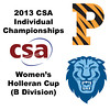 2013 College Squash Individual Championships - Holleran Cup - Round of 16: Alexis Saunders (Princeton) and Reyna Pacheco (Columbia)