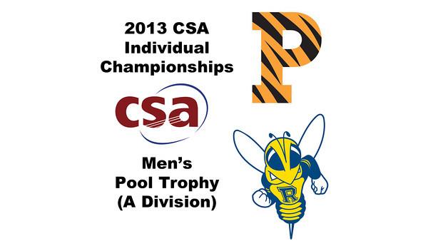 2013 College Squash Individual Championships - Pool Trophy - Con Final: Samuel Kang (Princeton) and Faraz Khan (Rochester)