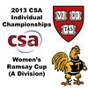 2013 College Squash Individual Championships - Ramsay Cup - Round of 32: Laura Gemmell (Harvard) andNatalie Babjukova (Trinity)