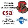 2013 College Squash Individual Championships - Pool Trophy - Round of 32: Nicholas Sachvie (Cornell) and Mauricio Sedano (Franklin & Marshall)