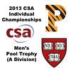 2013 College Squash Individual Championships - Pool Trophy - Round of 32: Samuel Kang (Princeton) and Gary Power (Harvard)