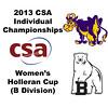 2013 College Squash Individual Championships - Holleran Cup - Con 1: Nicole Feshbach (Williams) and Michaela Martin (Bowdoin)