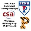 2013 College Squash Individual Championships - Ramsay Cup - Quarters: Yan Xin Tan (Penn) and Julie Cerullo (Princeton)