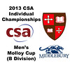 2013 College Squash Individual Championships - Molloy Cup - Round of 32: Sebastian Riedelsheimer (St. Lawrence) and Parker Hurst (Middlebury)
