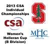 2013 College Squash Individual Championships - Holleran Cup - Round of 32: Julie Koenig (Stanford) and Sherouk Mohamed Omar (Mount Holyoke)