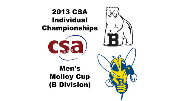 2013 College Squash Individual Championships - Molloy Cup - Round of 32: Andrew Hilboldt (Bowdoin) and Oscar Lopez (Rochester)