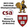 2013 College Squash Individual Championships - Ramsay Cup - Con Finals: Catalina Pelaez (Trinity) and Haley Mendez (Harvard)