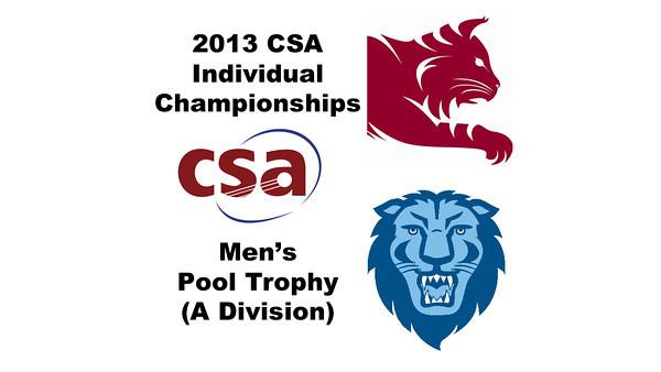 2013 College Squash Individual Championships - Pool Trophy - Quarters: Ahmed Abdel Khalek (Bates) and Ramit Tandon (Columbia)