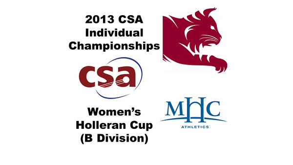 2013 College Squash Individual Championships - Holleran Cup - Con 2: Myriam Kelly (Bates) and Kathryn Brummer (Mount Holyoke)