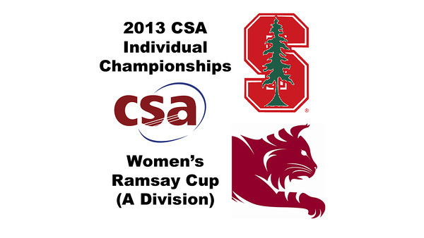 2013 College Squash Individual Championships - Ramsay Cup - Round of 32: Pamela Chua (Stanford) and Nessrine Ariffin (Bates)