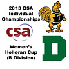 2013 College Squash Individual Championships - Holleran Cup - Round of 64: Chanel Erasmus (Trinity) and Melina Turk (Dartmouth)