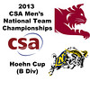 2013 Men's College Squash National Team Championships: R. J. Keating (Bates) and Hunter Bouchard (Navy)