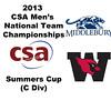 2013 Men's College Squash National Team Championships: John Steele (Wesleyan) and Jay Dolan (Middlebury)