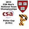 2013 Men's College Squash National Team Championships: Tyler Osborne (Princeton) and Nigel Koh(Harvard)