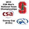 2013 Men's College Squash National Team Championships: Mark Wieland (Stanford) and Trey Simpson (Colby)