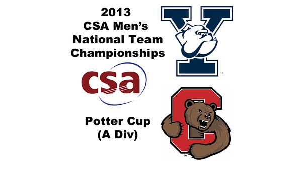 2013 Men's College Squash National Team Championships: Hywel Robinson (Yale) and Aditiya Jagtap (Cornell)