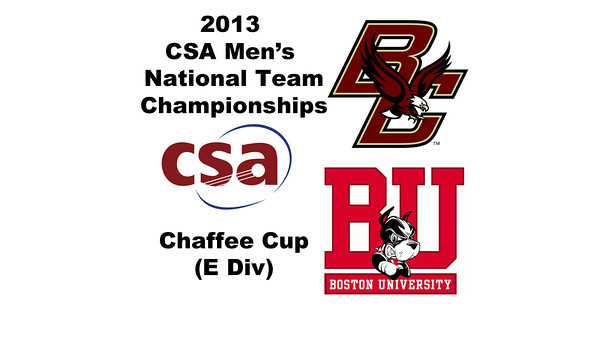 2013 Men's College Squash National Team Championships: Ted Glick (Boston College) and Asa Tyler (Boston University)