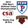 2013 Men's College Squash National Team Championships: Michael Mutscheller (Penn) and Christopher Holter (Brown)