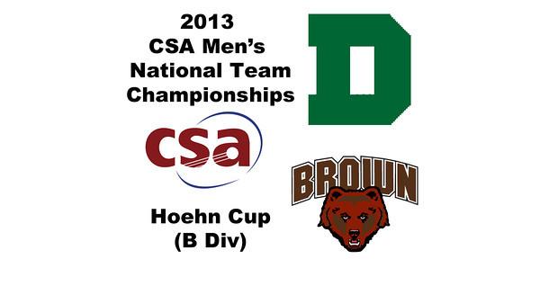 2013 Men's College Squash National Team Championships: #9s James Fisch (Dartmouth) andAlexander Hsu (Brown)