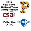 2013 Men's College Squash National Team Championships: Dylan Ward (Princeton) and Pedro Almeida (Franklin & Marshall)