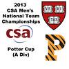 2013 Men's College Squash National Team Championships: Vivek Dinodia (Princeton) and Zeke Scherl (Harvard)