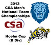 2013 Men's College Squash National Team Championships: Alex Nalle (Columbia) and Cotter Walker (Navy)