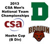 2013 Men's College Squash National Team Championships: Christopher Jung (Dartmouth) and Oliver Booth (Brown)