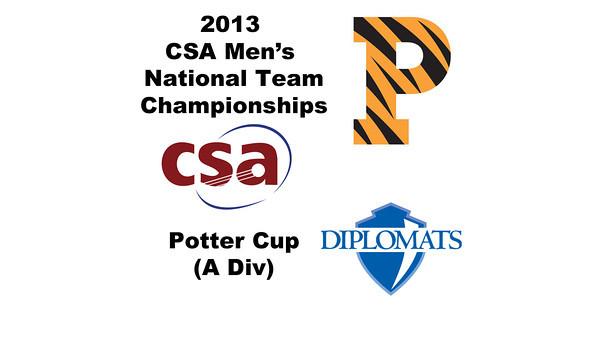 2013 Men's College Squash National Team Championships: Vivek Dinodia (Princeton) and Charles Cutler (Franklin & Marshall)